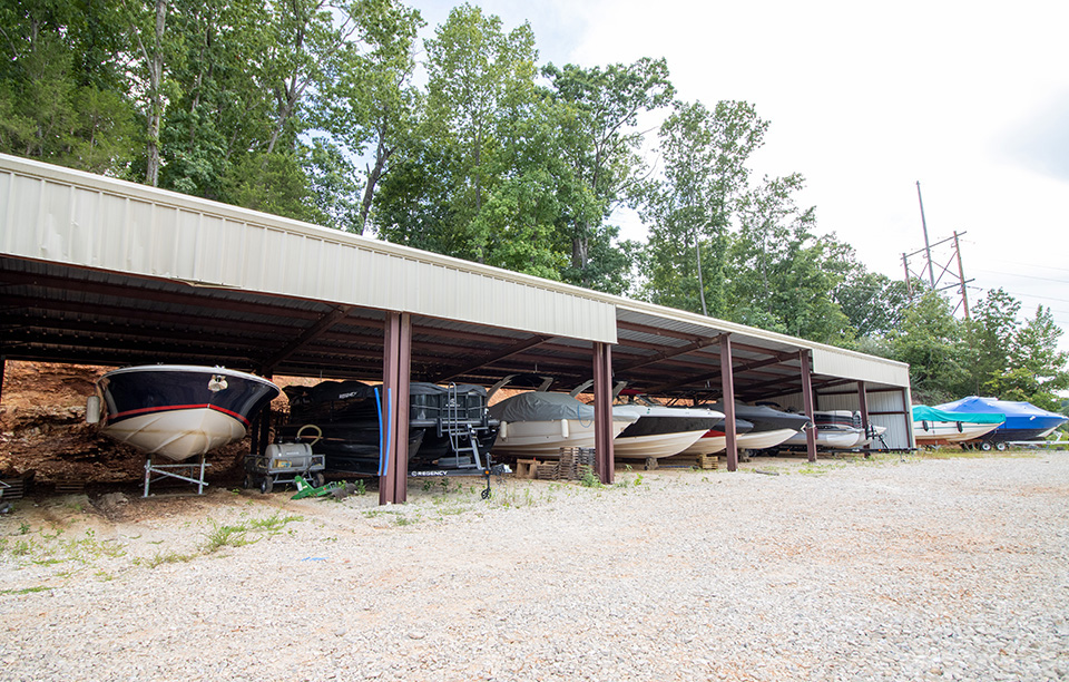 covered dry boat storage
