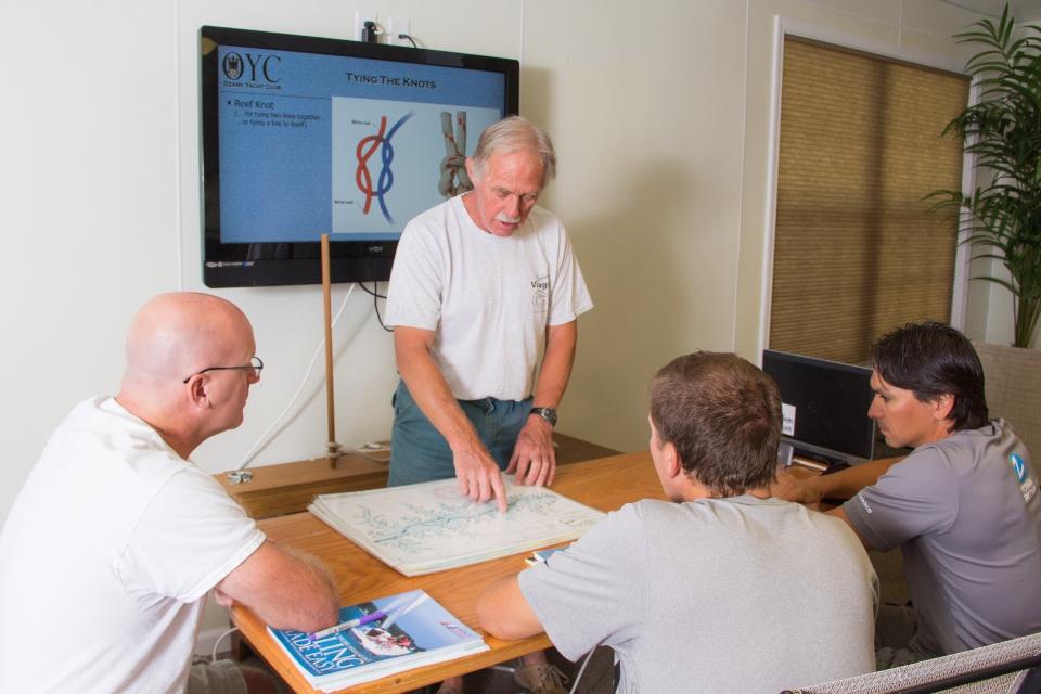 teaching sailing in classroom