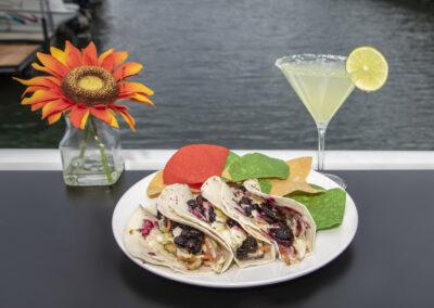 tacos and margarita
