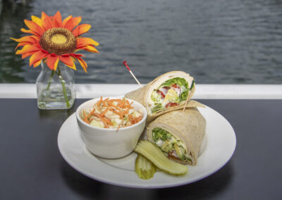 wrap and coleslaw