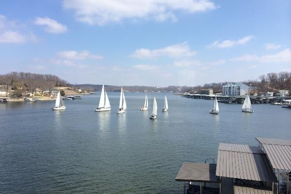 sail boats at Lake of the Ozarks